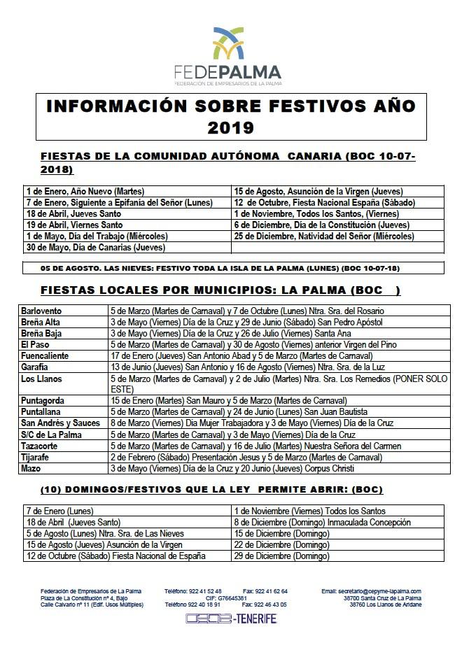 Festivos 2019